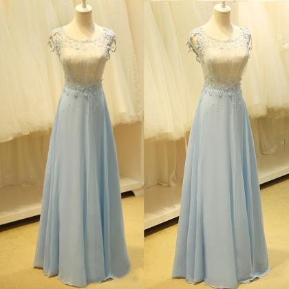 Sexy prom dresses, lace applique chiffon prom dresses, Qi prom dresses, lace chiffon evening dresses, Homecoming dresses Homecoming Dresses