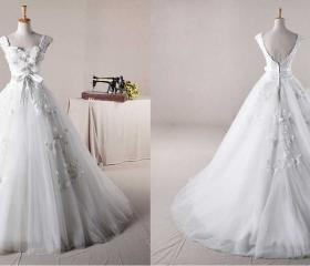 NEW STRAPS BALL GOWN NET CHARMING WEDDING Wedding Dress Bridal Dress Gown Wedding Gown Bridal Gown Lace Bridal Dress
